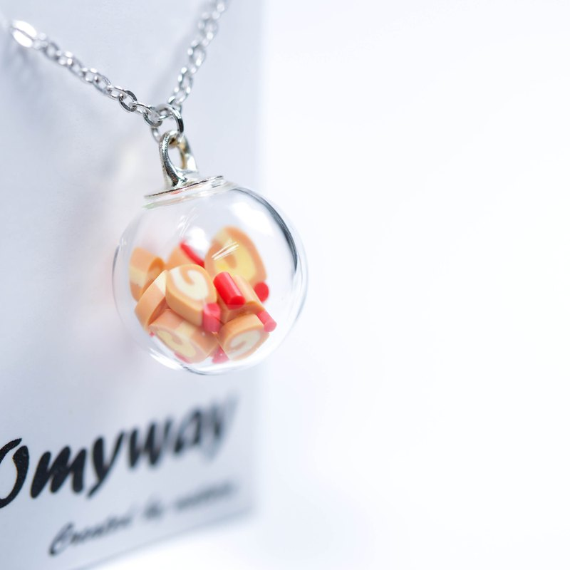 OMYWAY Handmade  Necklace - Glass Globe Necklace