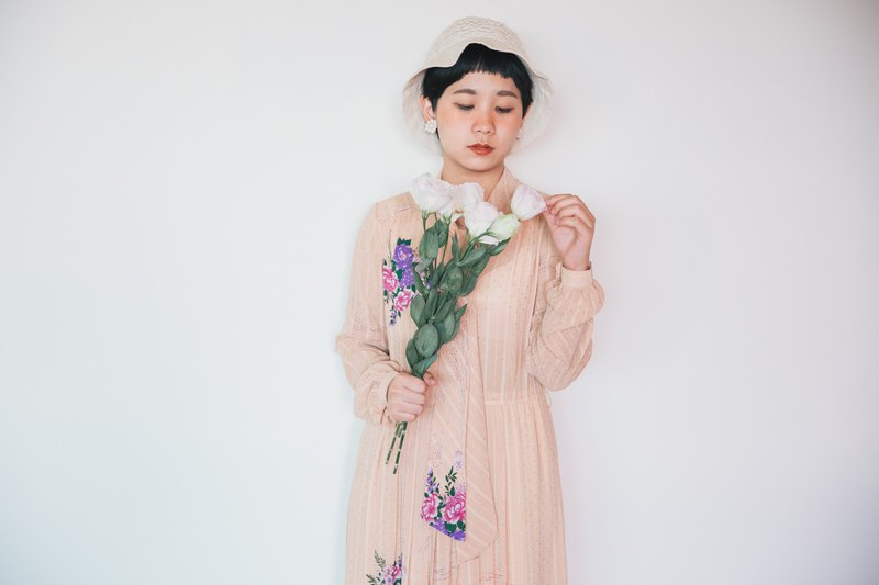 Awhile moment | Vintage long sleeve dress no.48