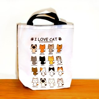Contrast illustrations ~ cat waterproof shoulder bag