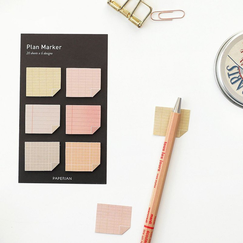 PAPERIAN Palette Sticker - Pink Note Page, PPR39323