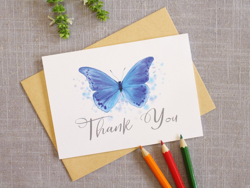 Thank You card  Butterfly Card