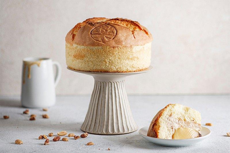 【樂樂甜點】爆漿雞蛋布丁蛋糕(6吋/盒)-原味/花生-2盒