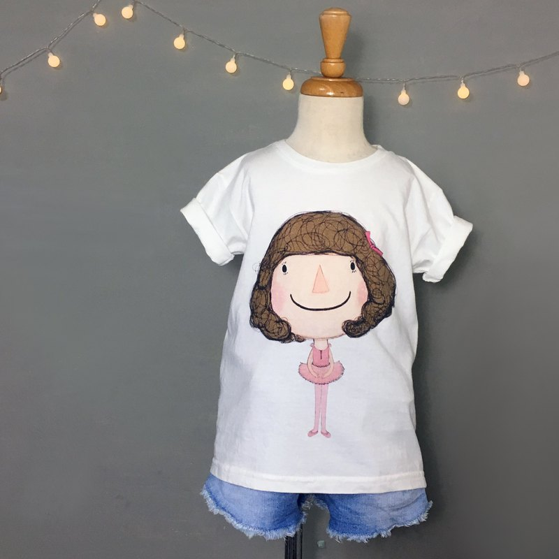 Children's cotton t-shirt \Dolly Dolly love ballet /