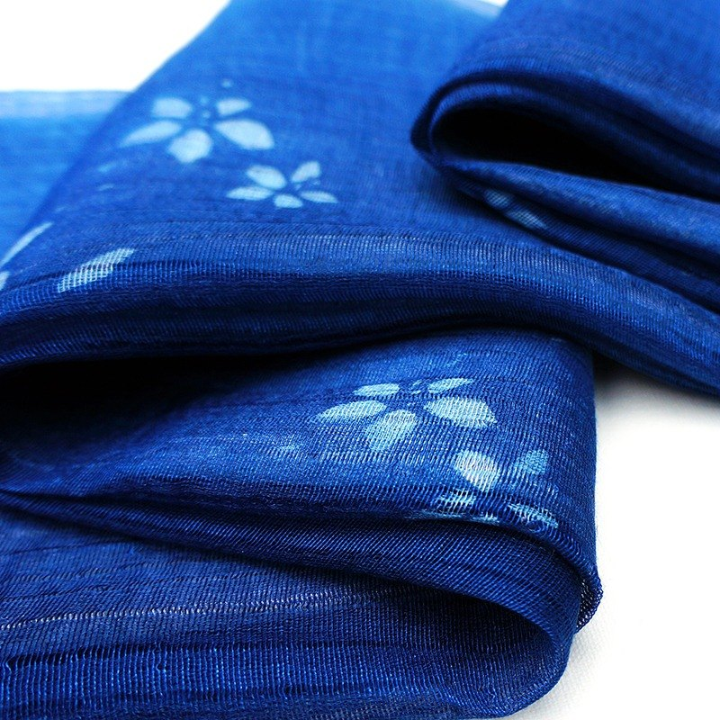 Zhuo also blue dye - Tong silk cotton scarves