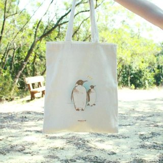 [Animal series # 5 looking penguin canvas bag