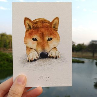 Shiba Inu Watercolor Painting - Original