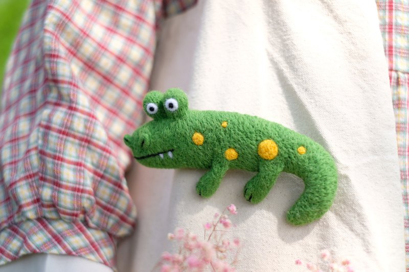 Moldy Mr. Crocodile Wool Felt Pin