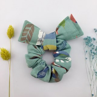 Colorful feather lake green - donut butterfly hair bundle - plus butterfly wings cute broken table