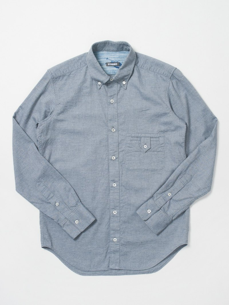 """BUTTON UP !!"" BUTTON-DOWN SHIRT-ORGANIC COTTON OXFORD"