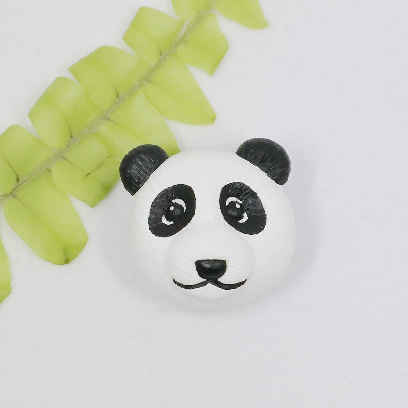 - Panda - / Brooch / Safety Pin / Magnet / Hair Ring / Charm / Identification Card / Necklace
