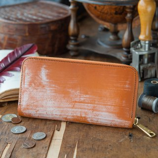 Japanese Manufacturers' cowhide packs 棕 色 Thomas Ware made in JAPAN handmade leather wallet