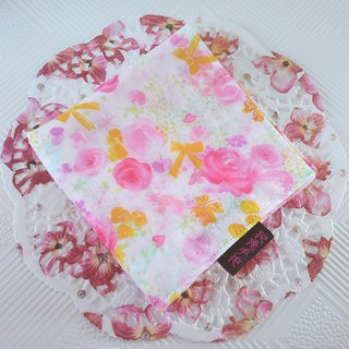 Temperament rose ● Japanese double yarn double-sided handkerchief small square