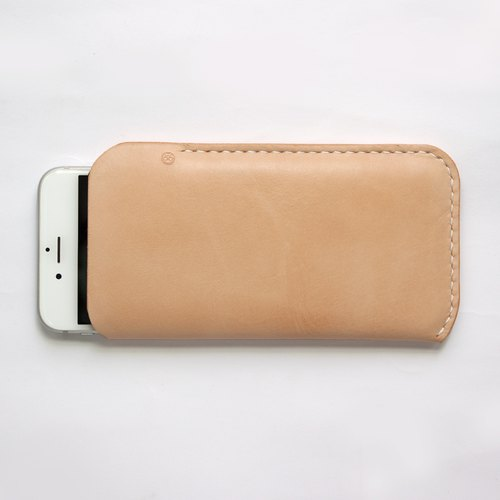 Tailor-made (Large) Handmade Leather Phone sleeve (customized details required)