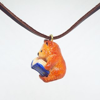 Hipster Bear handmade necklace