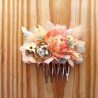 With real flowers | | Tranquil sea dry flower hair accessories hair fork for Christmas gifts