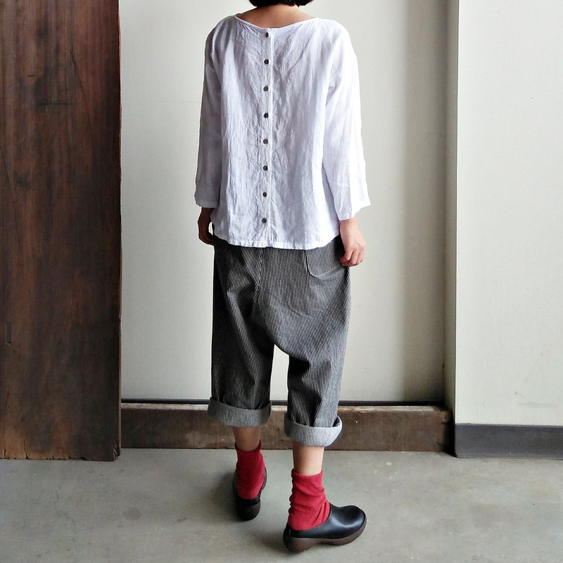 Front discounted low-grade reverse-fold pants straight cotton <require custom sizes, please communicate before ordering>
