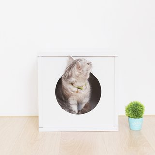 [Ange home] clever cat house | peekaboo cat cabinet - fat version (fresh white)