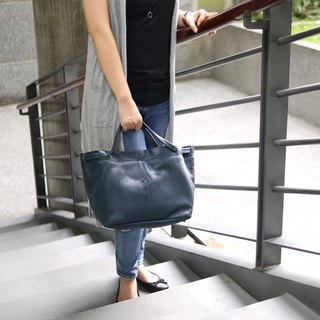 Texture handmade leather classic models portable / Tote bag only cocoa Made in Japan by CLEDRAN