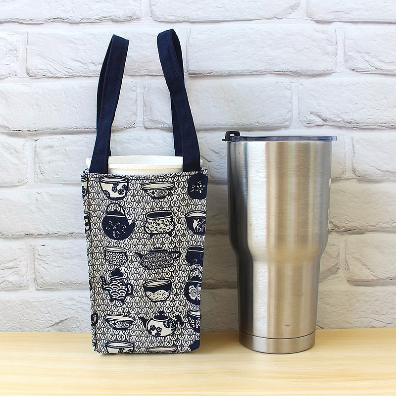 Japanese-style porcelain beverage bag (large) environmental protection cup bag ice tyrant cup bag