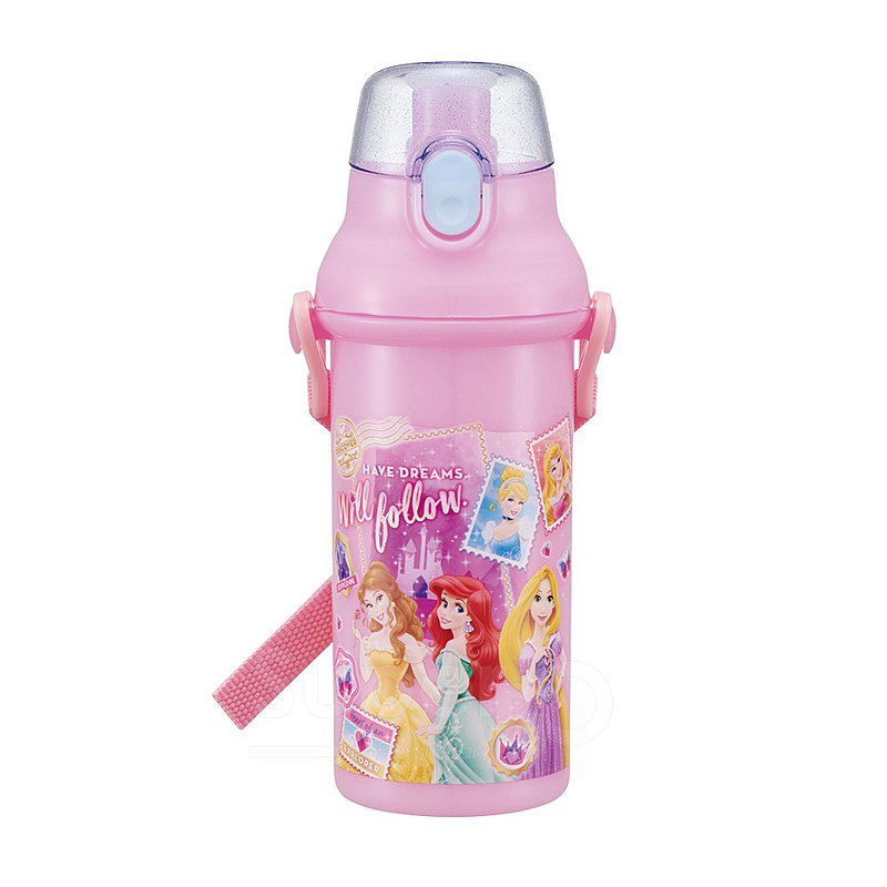 SKATER-Japanese Made Cold Drink Kettle 480mL-Disney Princess-Pink