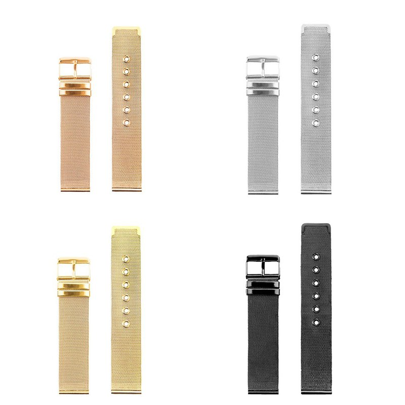 **Europe and the United States popular MESHBAN D. Ultra-thin steel mesh strap (silver/rose gold/black/gold)