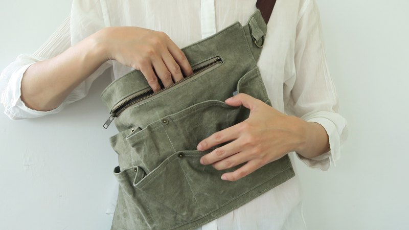 Waist Tool Bag | Canvas | Ore Green