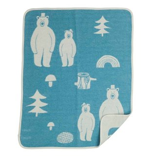 Baby blanket / Mi Yueli Sweden Klippan organic cotton blanket - good friend (Mercury Blue)