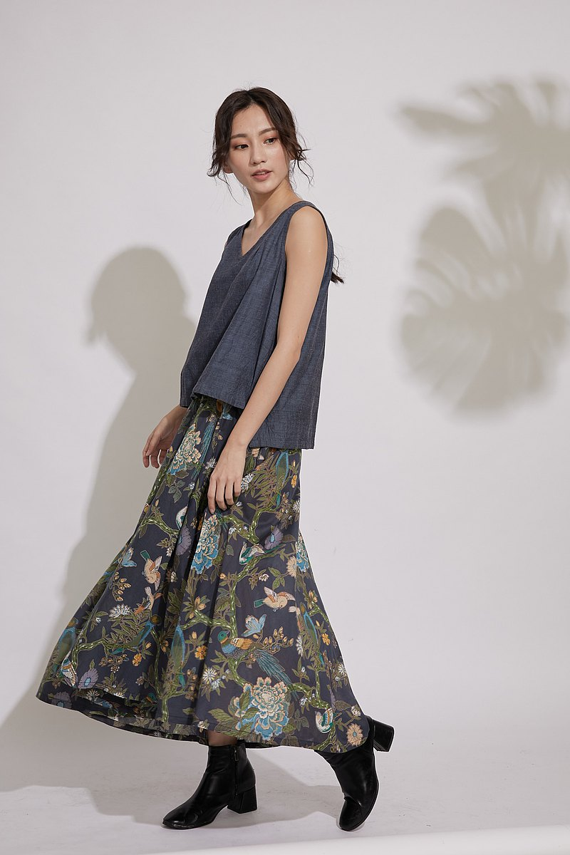 <Preorder for Hope> Irregular Round Skirt_Bird Garden_Fair Trade