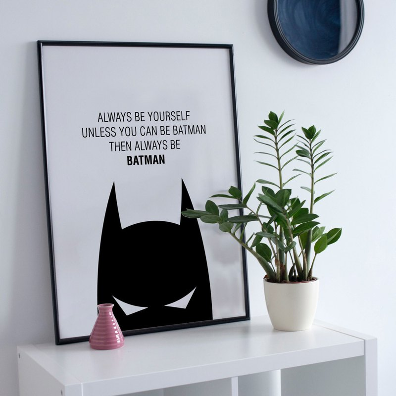 Batman Batman-painting/restaurant painting/children's room/home decor/photo frame/where to buy painting