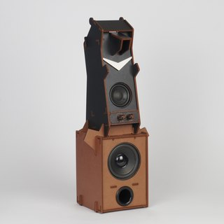 Stereo Puzzle - Mono Black Bear Speaker with Woofer (1.1 Channel)