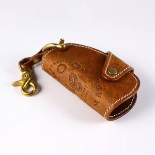 HEYOU handmade - Leather Key Holder Leather Key Holder - Orange Brown