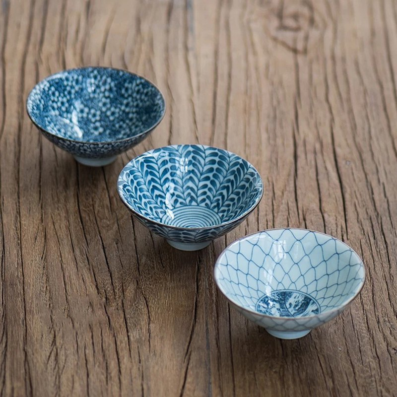 Speaking|Blue and White Hand-painted Cups Vintage Chinese Old Tea Cup 茗 Cup Pu'er Cup 盏