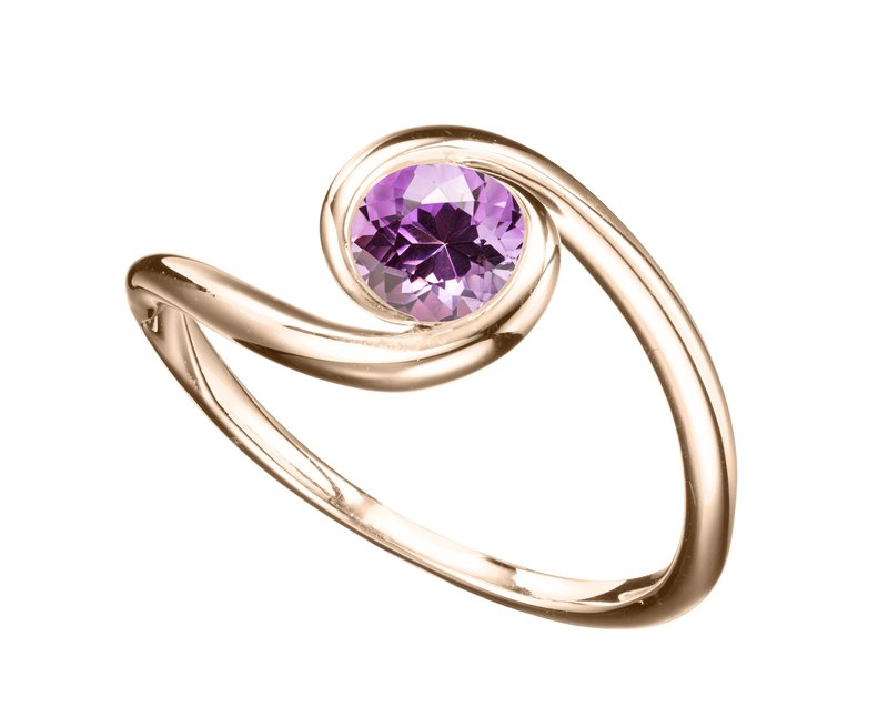14k gold amethyst ring. Simple amethyst engagement ring, amethyst wedding ring