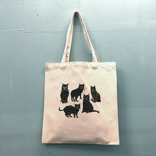 Black cats and cheetahs and worms with lobster and pork and polar bear canvas bag