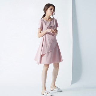 AEVEA pink color tailored dress