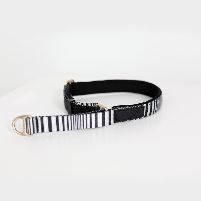 Trainer recommends pet dog collar French black and white stripes comfortable and not pre-sale
