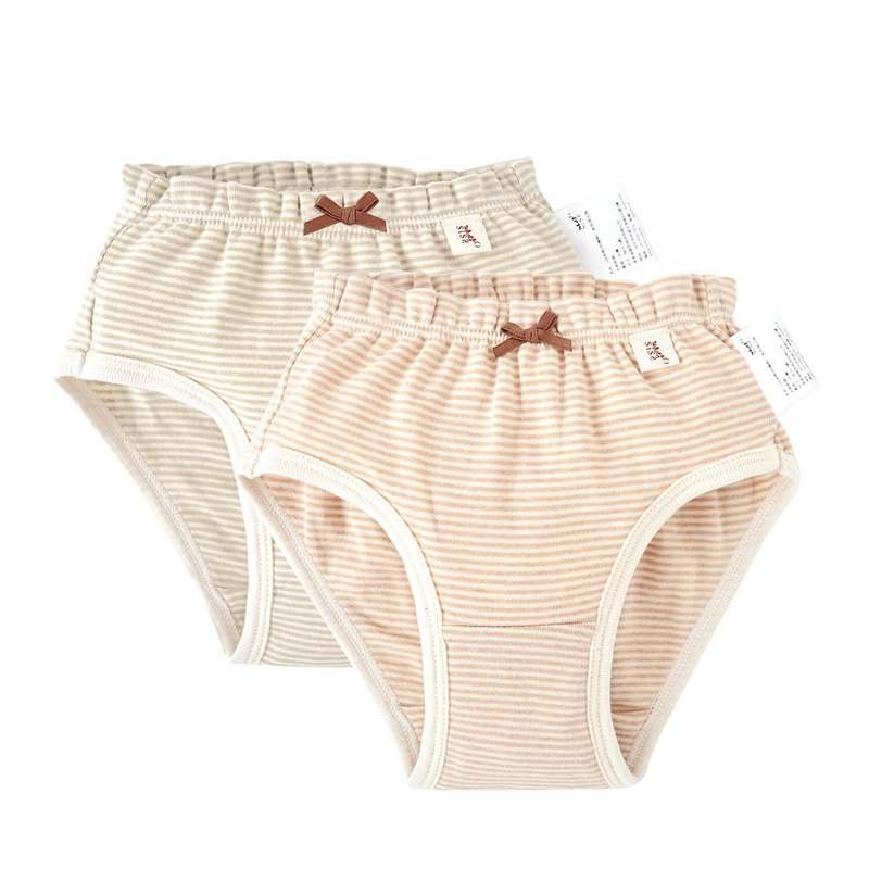 [SISSO organic cotton] girls soft strip triangle briefs (second group) ML XL