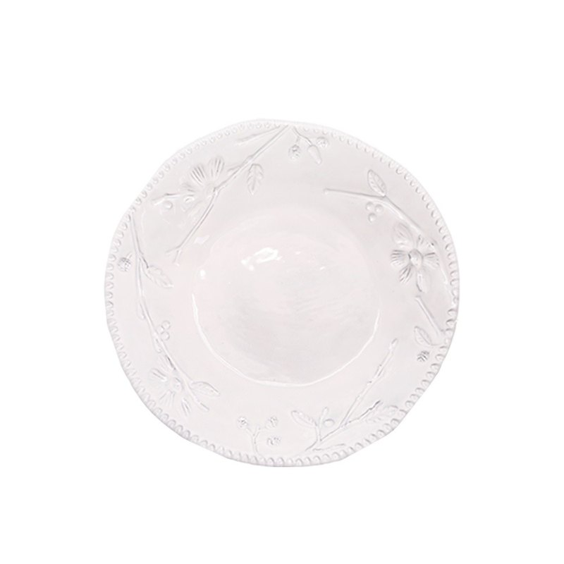 Handmade White Flower Series - 23 CM Soup Plate