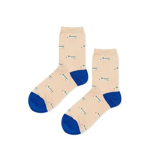 Hansel from Basel Dancing Flats in Socks / Comfortable Cotton Socks / Women's Socks