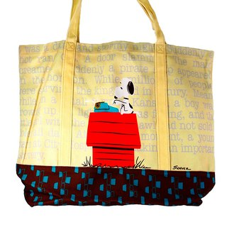 Snoopy Canvas Shopping Bag XL - Red House (Hallmark-Peanuts Snoopy Storage/Others)