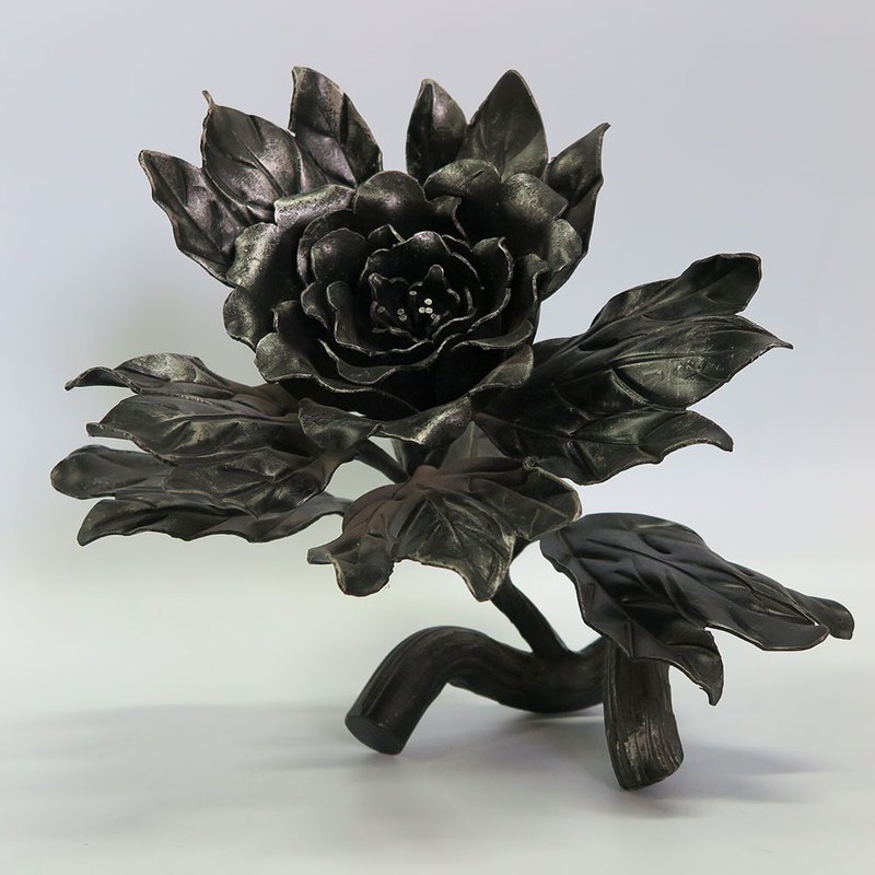 Flower gesture, handmade simulation of wrought iron ornaments. Decorations