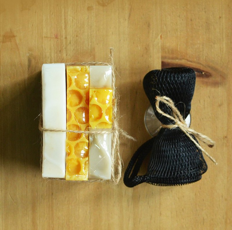 Summer soap set: Honey +Mugwort +Oolong Tea soaps