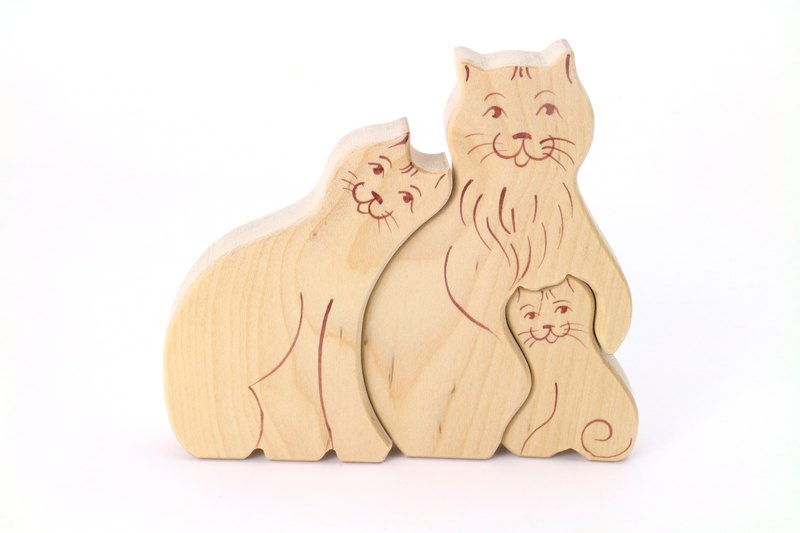 Russian Building Blocks - Beech Fairy - Family Series: Cat Family - Father's Day Gifts
