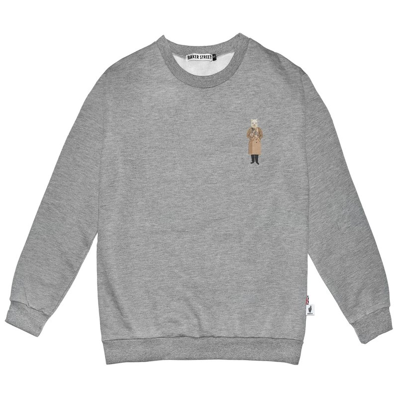 British Fashion Brand -Baker Street- Little Stamp:OOTD Printed Sweatshirt