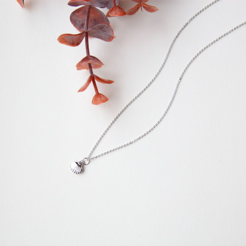 Shell Shape Necklace-Silver [Clavicle Chain]
