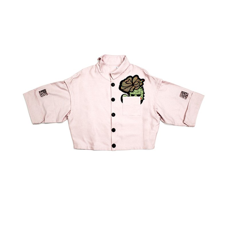 REFORMED WORK CLOTHS CACTUS SHORT SHIRT