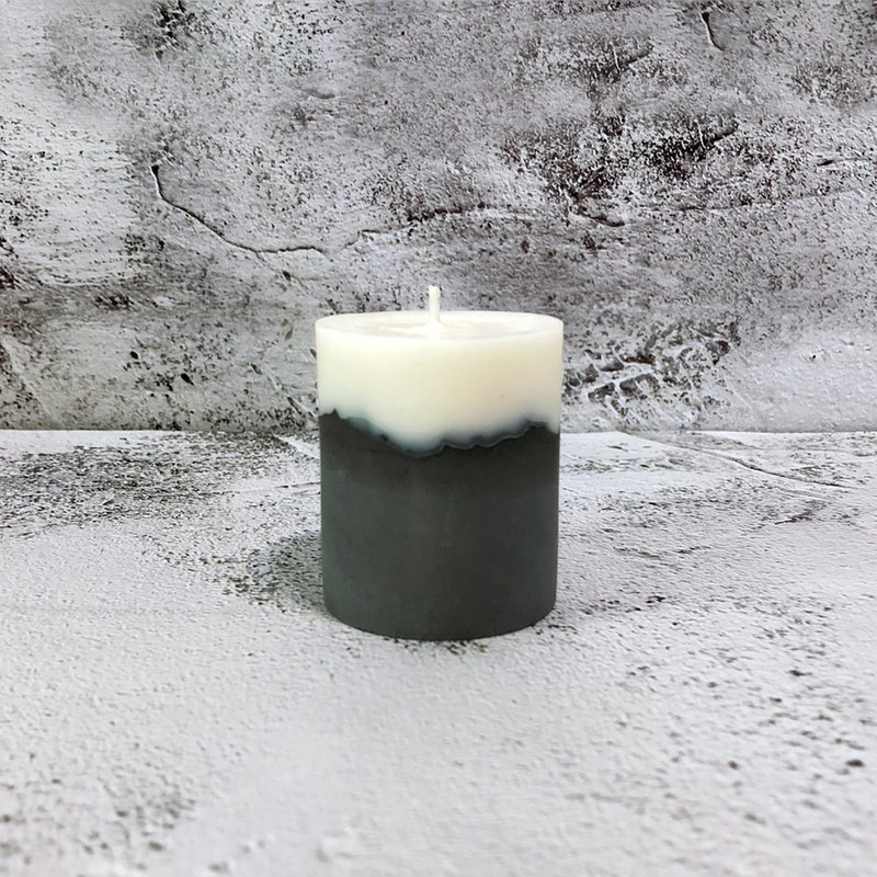 Industrial wind clear water concrete cement candle - no fragrance