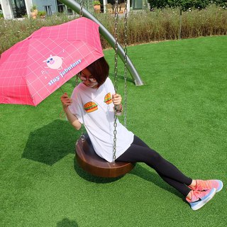 [Taiwan Wenchuang Rain's talk] Happy Pig Anti-UV 50% Hand Open Umbrella