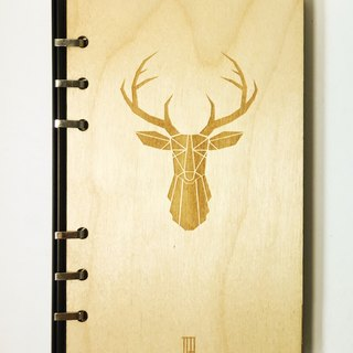[TAB] portable wood texture notebook / elk / drawing / scrapbook / textual / wood / wood / hand / account / laser engraving / wedding small objects / calendar / calendar