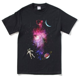 Outer Space Short Sleeve T-Shirt Black Outer Space Galaxy Milky Way Earth Planet Astrophotography Aurora Astro-Sun Planet Planet